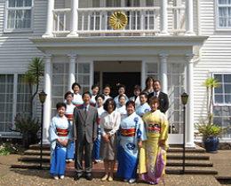 オークランドの日本国総領事公邸を表敬訪問