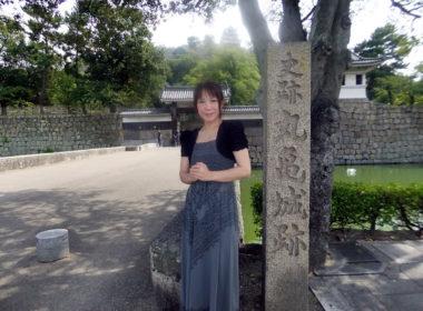 丸亀城跡にて