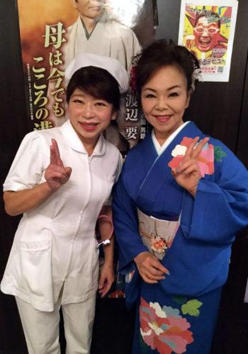 ゲスト出演の水沢明美さんとご一緒に